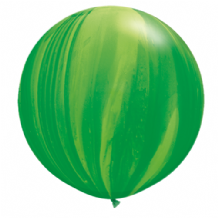 Giant SuperAgate Balloons - Green Rainbow (30 Inch) 2pcs